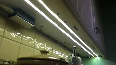 kitchen under cabinet strip lighting 12v led strips for kitchen under cabinet lighting youtube