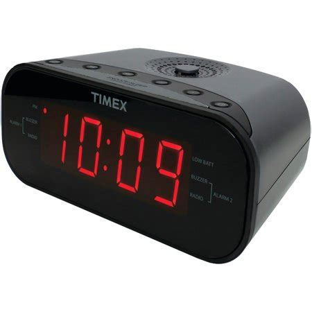timex t231gy2 am fm dual alarm clock radio with digital tuning gunmetal gray walmart