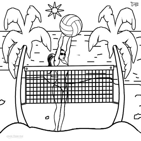 coloring pages volleyball printable volleyball coloring pages for kids cool2bkids