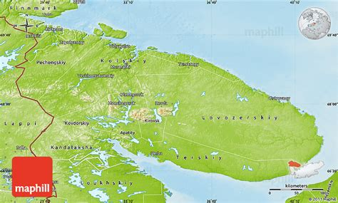 maps murmansk russia physical map of murmansk oblast