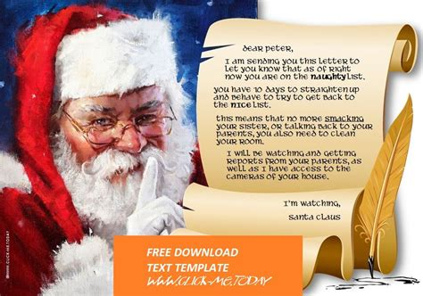 letter santa claus naughty list warning docx