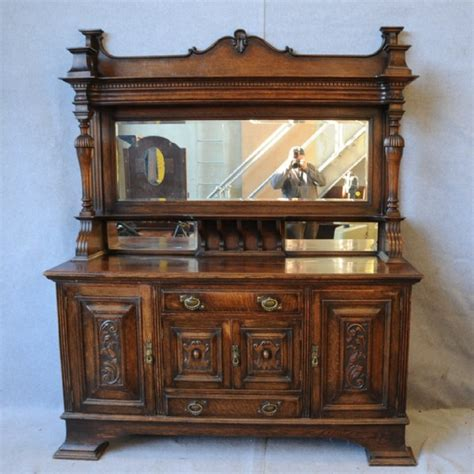 Antique Sideboards With Mirrors an oak mirror back sideboard sideboards antique furniture south perth antiques collectables