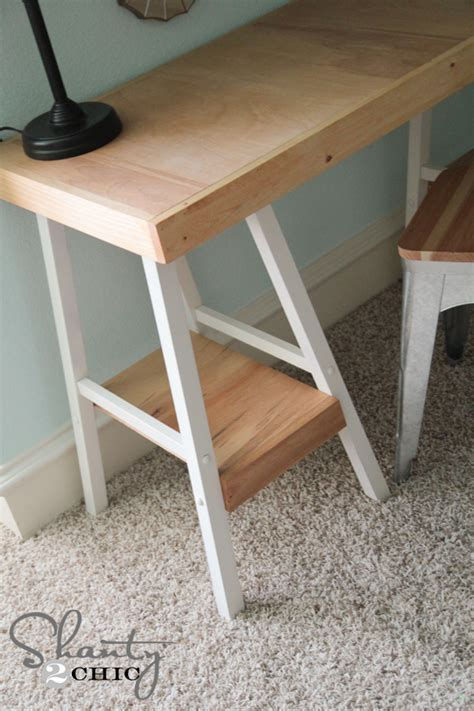 Simple Diy Desk Simple Diy Desk Shanty 2 Chic