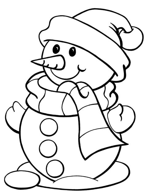 Coloring Page Of Snowman Free Printable Snowman Coloring Pages For Kids