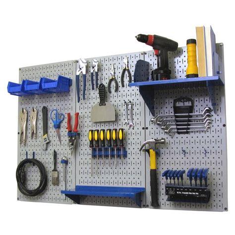 work bench organizer wall control 32 in x 48 in metal pegboard standard tool