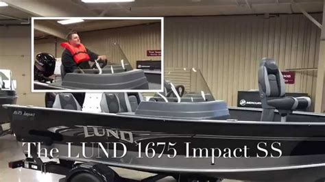 lund boats eau claire wi lund 1675 impact youtube