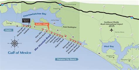 30a map map of florida northwest beaches miramar 2018 best