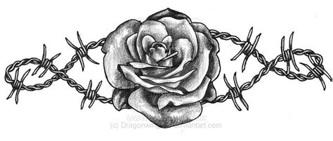 barbed wire and rose tattoo designs barbed wire by dragonwings13 tatoos