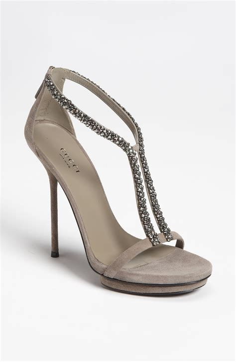 gucci sandals gucci sandal in gray beige lyst