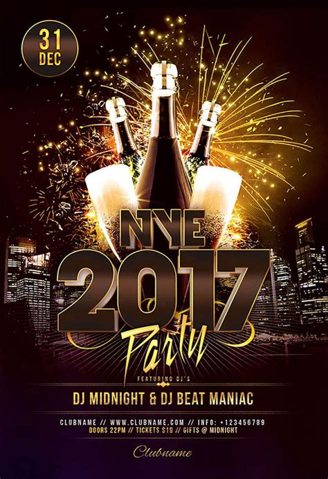 free new years flyer template 60 amazing and new year s flyers for the season