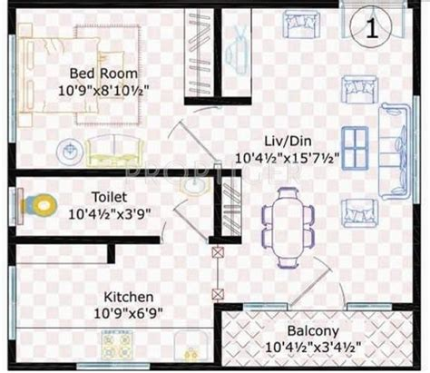 500 sq ft 1 bhk 1t apartment for sale in uday realcon east 500 sq ft 1 bhk 1t apartment for sale in sivani developers