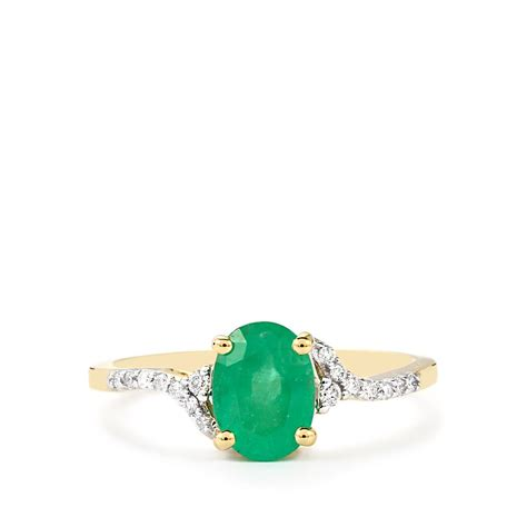 siberian emerald ring with in 14k gold 1 34cts