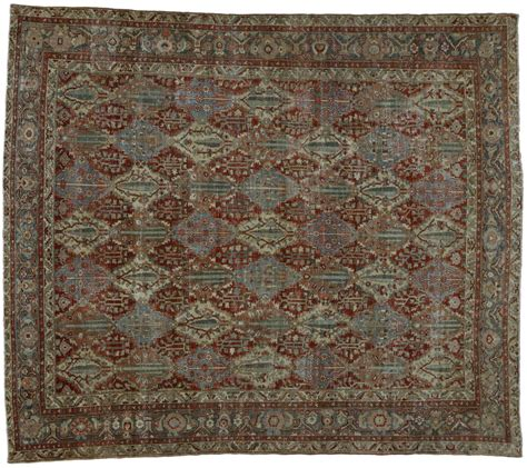 industrial style rugs distressed antique bakhtiari rug with modern industrial style for sale at 1stdibs