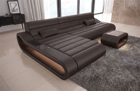 sofa breite ottomane luxury sectional sofa concept l with led lights