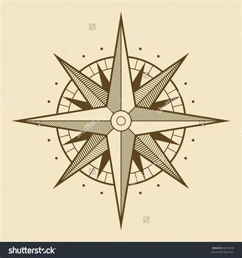 tattoo wind rose vector oldstyle wind compass compass