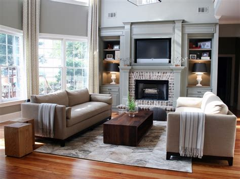 how to arrange living room furniture with fireplace and tv brick fireplace for classic living room furniture arrangement ideas with solid wooden coffee