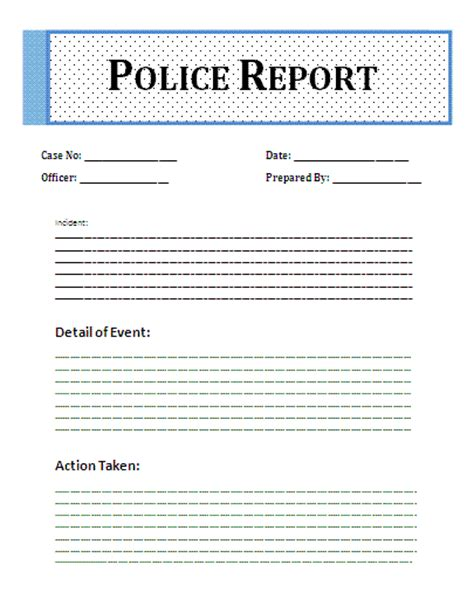 what is a report template free printable report template form generic