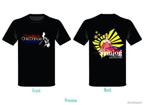 Tshirt Preview sinulog t shirt preview by iamdeathwolf on deviantart