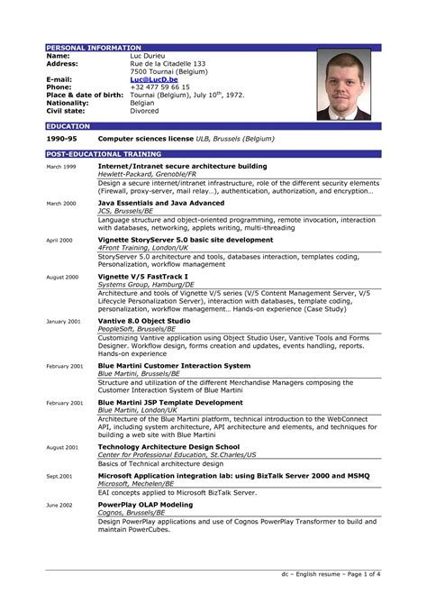 a resume template resume exles templates how to write resume