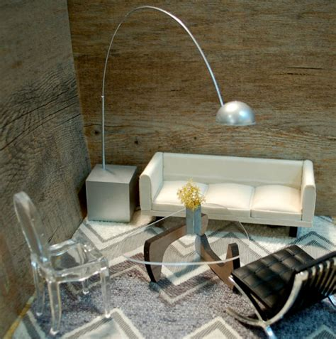 miniature midcentury furniture for your modern dollhouse