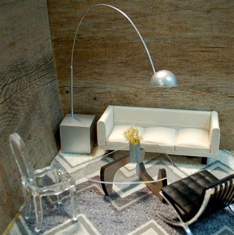 miniature modern furniture miniature midcentury furniture for your modern dollhouse