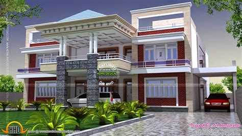 home building designs double story house plans in india