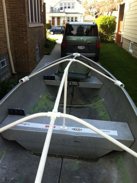 tarp boat cover fourtitude diy boat cover or tarp support duck