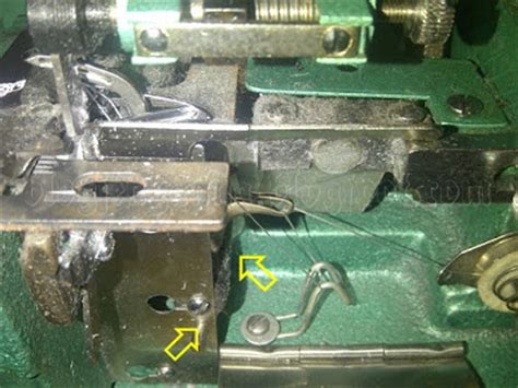 Mesin Obras Yamato masalah pada mesin obras jahitan tidak menganyam lompat