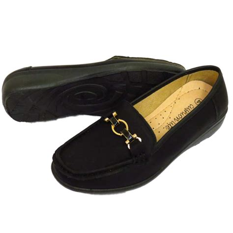 womens black comfort shoes for work ladies black slip on pumps comfy work moccasin casual