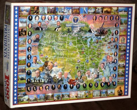 usa map puzzle 1000 pieces united states presidents 1000 jigsaw puzzle map usa