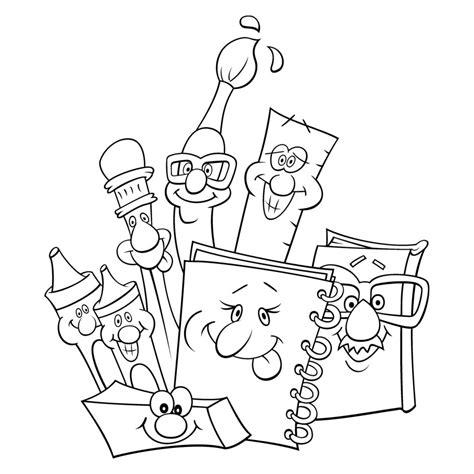 imagenes para tareas escolares dibujos para colorear de materiales escolares