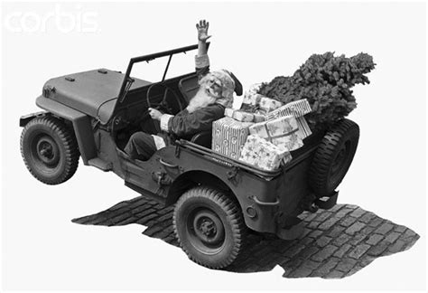 Jeep Santa Merry And Happy Holidays From Road