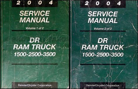 automotive service manuals 2004 dodge ram 1500 security system 2004 dodge ram 1500 3500 repair shop manual original 2 volume set