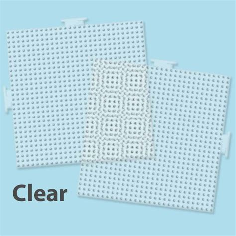perler pegboards large clear square pegboards 2 ct perler