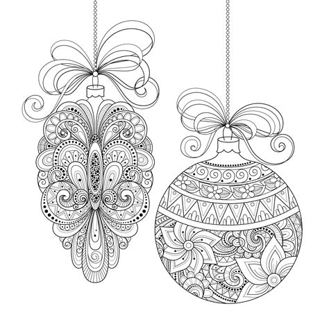 coloring pages christmas for adults christmas ornaments by irinarivoruchko christmas