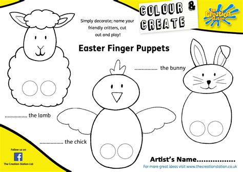 easter bunny paper bag puppet template free coloring pages of family finger puppets