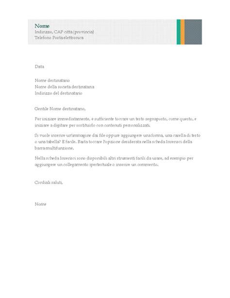 modelli lettere commerciali lettera commerciale schema con strisce