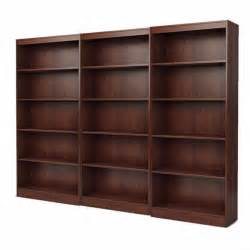 wall bookcase south shore office 5 shelf wall royal cherry bookcase