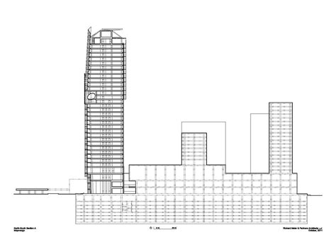 tower section mitikah office tower in mexico city by richard meier