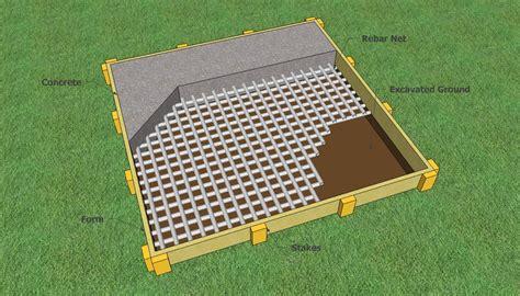 how to build shed concrete slab neks