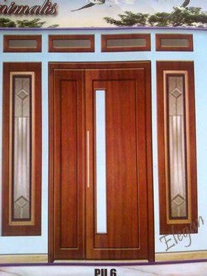jual kusen pintu utama minimalis kaca lengkap