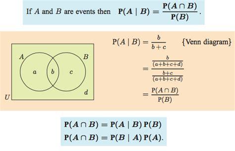 venn diagram probability formula venn diagrams and conditional probability ib maths sl