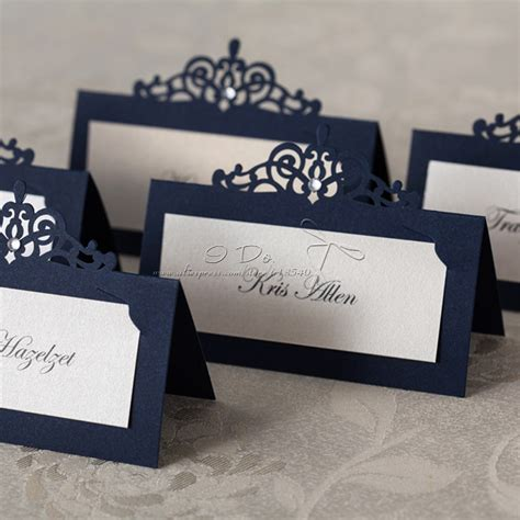 deco table name card template free shipping 24cs royal blue place card holder wedding