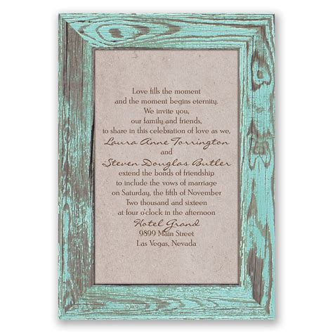 Wedding Invitation Frame by Rustic Frame Invitation Invitations By