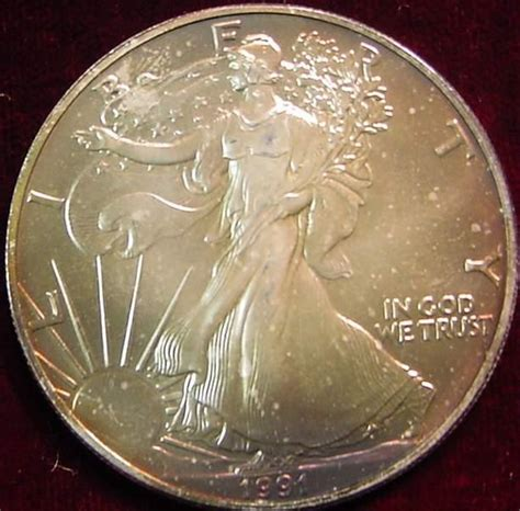 1 oz silver one dollar 1991 1991 american eagle 1 oz silver dollar