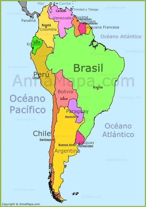 mapa politico de america imagenes mapa america sur threeblindants
