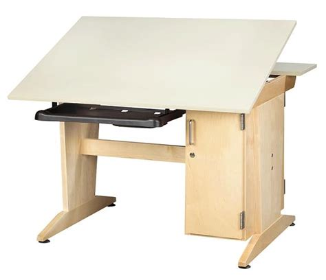 Shain Art Drafting Vertical Tower Computer Table Drafting Table With Computer