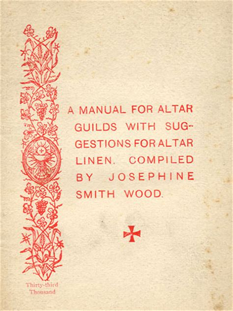 an anglican altar guild manual anglican diocese of the south a manual for altar guilds by josephine smith wood 1915