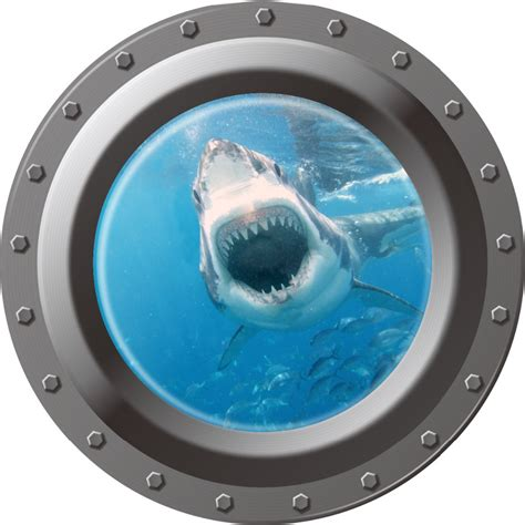 Peel Off Wall Stickers 3d ocean view window submarine wall sticker decals