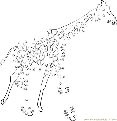 printable animal dot to dots big animal giraffe dot to dot printable worksheet